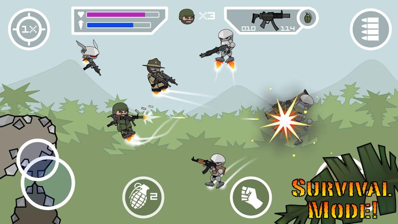 télécharger gratuitement Doodle Army 2 Mini Militia PC et Mac