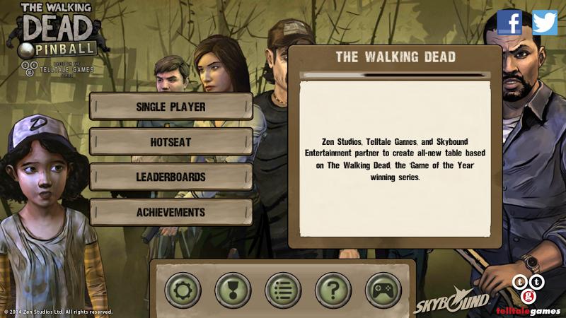 télécharger gratuitement The Walking Dead Pinball PC et Mac